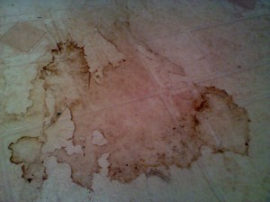 old world map - coffee spill